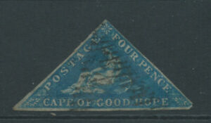 CAPE OF GOOD HOPE SG4 4d dp bl wmk up lightly blued paper used smal faults C£170