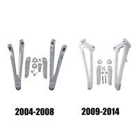 Rear Footpegs Foot Pegs Bracket For Yamaha YZF R1 2004-2014 2004-2008 2009-2014