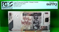 CONGO DEMOCRATIC REPUBLIC 5000 FRANCS 2013 PICK 102 b LUCKY MONEY VALUE $360