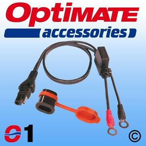 SAE71 (O1) Weatherproof SAE Eyelet Lead for use with OptiMate battery chargers