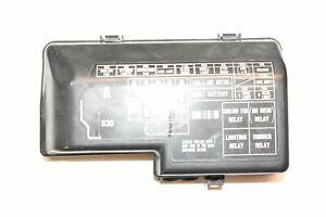 97 98 Honda Prelude Fuse Relay Box Lid Cover S30