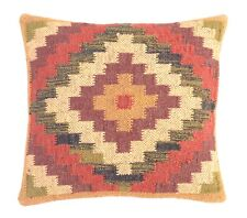 Indian Hand Woven Kilim Cushion Cover Vintage Kelim Wool Rug Pillow Throw Case