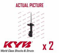 2 x FRONT AXLE SHOCK ABSORBERS PAIR STRUTS SHOCKERS KYB OE QUALITY 339722