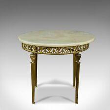 Italianate Lamp Table, Gilt Metal, Onyx, Classical Revival, Side, Late C20th