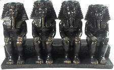 EGYPTIAN CANDLE HOLDER THE FOUR KINGS PHARAOHS KING TUTANKHAMUN WORSHIP ANCIENT