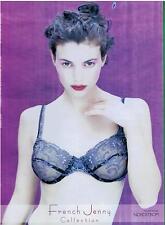 1998 Sexy Woman French Jenny  Lingerie Bra Magazine Print  AD