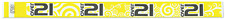 Yellow Over 21 Swirls TYVEK Wristbands 500 in a pack