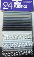 24 Plain & Patterned Hair Elastics - Select Colour Needed Below Postage Brown Colours K74
