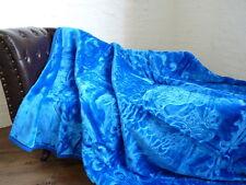 XXL LUXUS Kuscheldecke Tagesdecke Wohndecke Decke Plaid blau 200x240cm