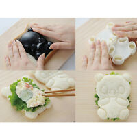 4in1 Baby Panda Mold Rice Mold Onigiri Shaper and Dry Roasted Seaweed Cutter Set