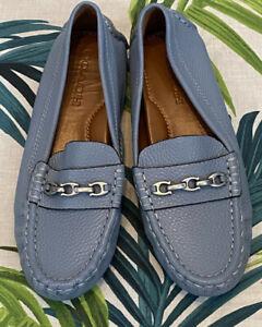 BNWOT Crosby Driver Shoe Loafer Slate Pale Blue Size 4 UK/ 6 US/ 36.5 EU