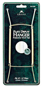 23-1310 Plate Hanger, Brass Wire, 10 To 14-In. - Quantity 6