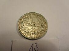 Reichsmark, 1 Mark, Reichsmünze, 1903 Buchstabe D silber  unbehandelt, top (13)