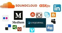 Crete 100 social media profiles for your website or business Google Ranking seo