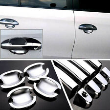Chrome Door Handle Bowl Cover Cup Overlay Trim For Toyota Yaris #HC59