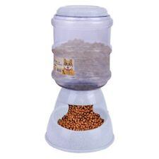 New ListingAutomatic Pet Food Dispenser Dog Cat Feeder Waterer Auto Dish Bowl 3.8L Us