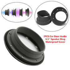 2x Silica gel Car Door Audio 6.5'' Speaker Ring Waterproof Cover Foldable Washer