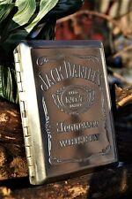 Jack Daniels Credit Debit Business Card or Cigarette Case - Embossed - Old No. 7