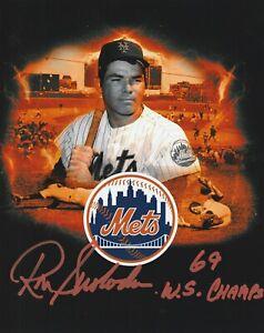 Ron Swoboda HAND Signed 8x10 w/ 69 WS Champs INSCRIPTION NY Mets AUTO Orange