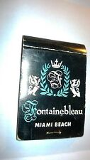"""Vintage """" FONTAINEBLEAU-Miami Beach BOOM.BOOM ROOM Matchbook Made in USA"""