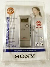 Sony ICD-UX70 (1024 MB, 4.5 Hours) Handheld Digital Voice Recorder Tested