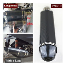 38-51MM Motorcycle Carbon Fiber Lengthened Type Exhaust Muffler Pipe w/DB Killer