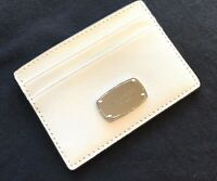 NWT MICHAEL KORS card holder saffiano leather card case wallet white Authentic!