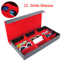 12 Slot Grid Eyeglass Display Storage Stand Case Box Holder Sunglass Glasses