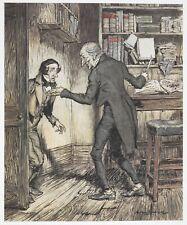 Arthur Rackham 1915 A Christmas Carol Charles Dickens Scrooge 6x5 Inch Print