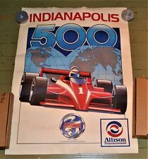 VTG 1990 Indianapolis 500 Poster Alison Transmission 75 Years 1915-1990