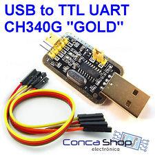 USB A RS232 TTL CH340G Win10 - CABLE CONVERTIDOR USB UART ARDUINO - ESPAÑA