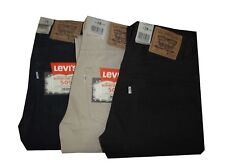 levis 505 Pantaloni Jeans Levi's Cotone Uomo Regular estivi W28 Blu Nero Beige