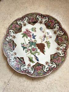 assiette porcelaine de CHINE XVIIIe 18TH Compagnie des Indes Famille Rose
