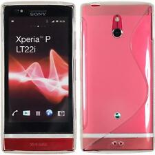 Coque en Silicone Sony Xperia P - S-Style transparent + films de protection