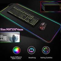 Large 90*35CM LED RGB Mouse Pad mouse pad USB Gamer Mousepad PC Mice Mat