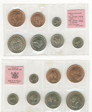 1965 New Zealand 7 coin official set-Kiwi,Birds,Maori Indian,Symbols