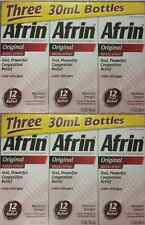 Afrin Original Nasal Spray & Decongestant 12 hr Relief 6 x 1 oz bottle