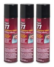 QTY3 3M SUPER 77 7.3OZ SPRAY GLUE for FOIL PLASTIC PAPER FOAM METAL FABRIC