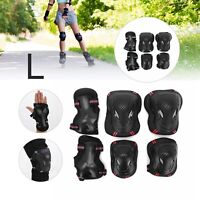 6pcs L Skating Protective Gear Sets Elbow Knee Pads Bike Skateboard Adult Kid