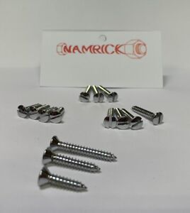 RAISED COUNTERSUNK SLOTTED SELF TAPPING SCREWS, CHROME PLATED No.4,6,8,