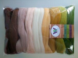 Desert sets* Pure Merino Wool for Needle and Wet Felting packs of 30, 60 or 90 g