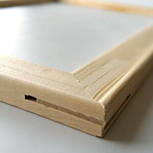 Keilrahmen Bausatz aus Holz 2cm dick, Holzleisten Set ohne Leinwand