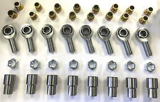 8 Pack Loaded Chromoly Heim Joints 3/4-16 with Misalignment Spacers 3/4 to 5/8