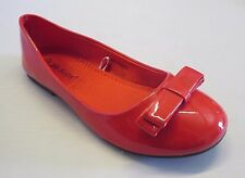 Girl Flats Patent w/Bow (Rosa) Kid Flower Girl Pageant White Yellow Blue Magenta