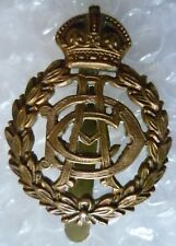Badge- WW1 Royal Army Dental Corps Cap Badge ADC Badge KC (All BRASS,Org*)Slider