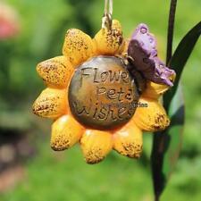 Miniature Sunflower Wishes Fairy Sign  Faerie Gnome Garden WS 1522