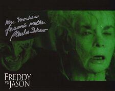 Paula Shaw Autograph Freddy vs Jason 8x10 Picture COA Pamela Voorhees J3