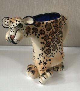 Lynda Corneille Ceramic SWAK Cheetah Animal Mug Cup Collectable Decorative