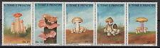1988 SAN TOME' E PRINCIPE  5 VALORI FUNGHI MUSHROOMS STAMPS 899-903 YVERT MNH**