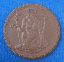 Medaille Porzellan Meissen Deutscher Not- und Schmachtaler